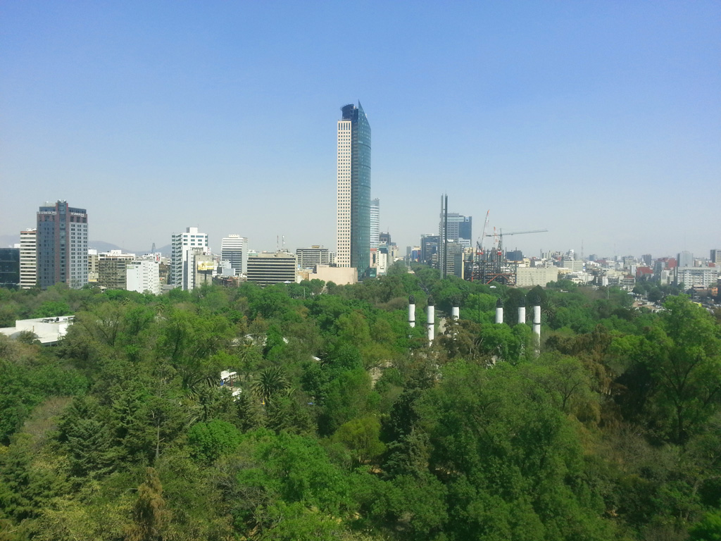 Perspective from the Chapultepec Castle