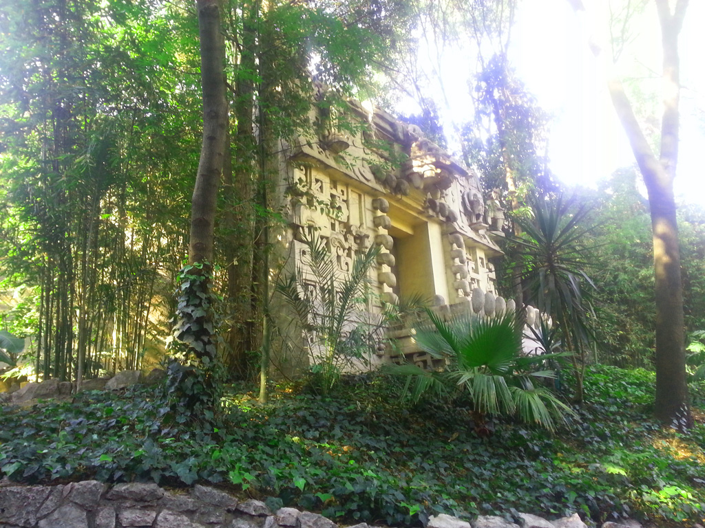 A Maya temple replica at the National Museum of Anthropology