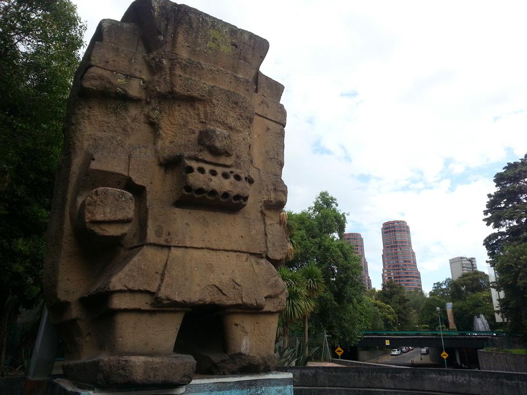 Aztec God Tlaloc giant monolith