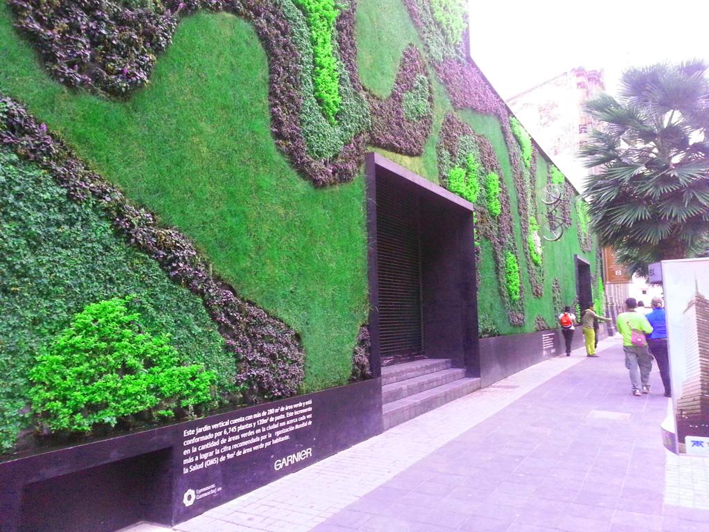 A vertical garden in Regina Street