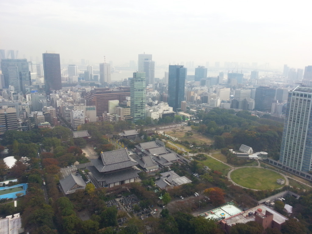 Zojoji temple seen from Tokyo Tower